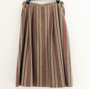 Dresses & Skirts - Vintage 70s Striped Highwaist Wool Skirt  14